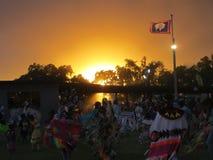Kriegsgefangen wow bei Sonnenuntergang lizenzfreies stockbild