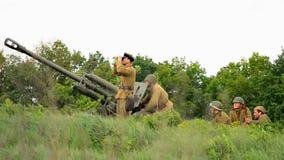 Kriegsrekonstruktion stock video