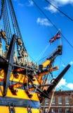 Kriegsschiff - HMS-Sieg Stockbilder