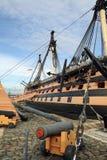 Kriegsschiff HMS Victory Famous, das in die Schlacht von Trafalgar mit einbezogen wurde, captained durch Admiral Lord Nelson im J Stockfotos