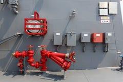 Kriegsschiff - Hydrant Lizenzfreies Stockbild
