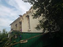 Krig i Lugansk Royaltyfria Bilder