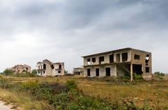 Kriga hus fotografering för bildbyråer