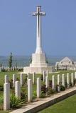 Kriga kyrkogården - La Somme - Frankrike Royaltyfria Bilder
