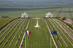 Kriga kyrkogården - Sommen - Frankrike Arkivbilder