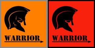 krigare Krigarehuvud royaltyfri illustrationer
