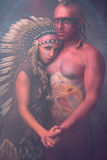 Krigare och hans älskling Arkivfoton