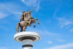 Krigare på en häst Arkivfoto