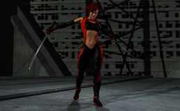krigarekvinna Arkivbild