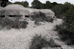 Krigbunker, spansk inbördeskrig Royaltyfri Foto