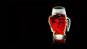 Krige de la cabra de la cerveza Imagenes de archivo