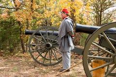 kriger den borgerliga reproduktionen för 6 kanon royaltyfria bilder