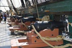 kriger den borgerliga shipen för canons Royaltyfri Fotografi