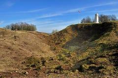 kriger den första monumentet för slagfältet världen Royaltyfri Foto