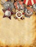 kriger den militära ryssen för medaljer ii världen Royaltyfri Fotografi