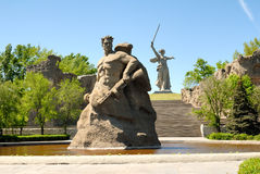 kriger den minnes- obelisken för kurgan mamayev ii världen Arkivfoton