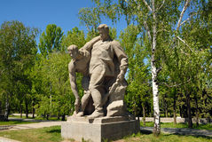 kriger den minnes- obelisken för kurgan mamayev ii världen Arkivfoto