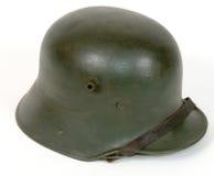 kriger den tyska stora hjälmen för striden Arkivfoto