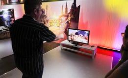kriger gamescomkinectstjärnan 2011 Arkivbild