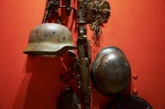 _ kriger huvudminnesmärken för den brest ingångsfästningen till Utställning av museet av försvar av den Brest Fästning-hjälten Hj Arkivbilder