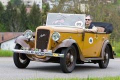 kriger tappning 1936 för toureren för racen för den austin bilen pre Arkivfoto