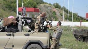 Kriget i Ukraina stock video