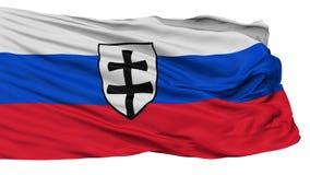 Krigflagga av den första flaggan för slovakisk republik som isoleras på vit stock illustrationer