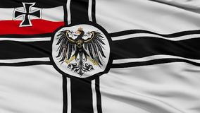 Krigflagga av Tyskland 1903 ögla för Closeup för 1918 flagga sömlös stock video