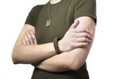 Krigkvinna med vapnet Royaltyfri Bild