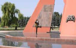 Krigminnesmärke eller minnesmärke Eternitate, Kishinev (Chisinau) Moldavien Arkivbild