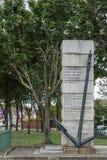 Krigminnesmärke i hedern av borttappade sjömän, Dublin Ireland Arkivfoton