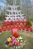 Krigminnesmärke, Leningrad Oblast. Fotografering för Bildbyråer