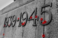 Krigmonument på minnedag Arkivbilder
