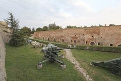 Krigmuseum i den Kalemegdan fästningen, Belgrade, Serbien Royaltyfria Bilder