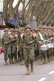 Krigmusikband Arkivfoto