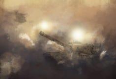 Krigplats stock illustrationer