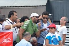 krigs- protestera för egyptierlag Fotografering för Bildbyråer