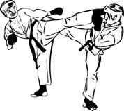 krigs- sportar för konstkaratekyokushinkai royaltyfri illustrationer
