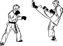 krigs- sportar för konstkaratekyokushinkai Fotografering för Bildbyråer