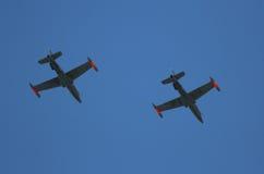 Krigsflygplan Aermacchi Arkivbild