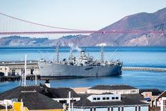 Krigskeppet för SS som Jeremiah OBrien byggs under världskrig II arkivfoto
