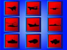 krigsmakt Arkivbild