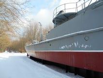 Krigsskeppet i snön parkerar Royaltyfria Foton