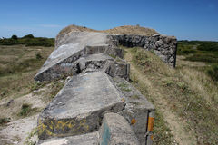 Krigstidbunker, Brittany, Frankrike Arkivbild