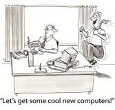 Krijg computers royalty-vrije illustratie