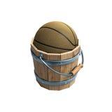 Krijg de uitdrukking van het emmersbasketbal Royalty-vrije Stock Afbeelding
