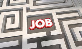 Krijg Job Find Open Work Position-Gesprekslabyrint Royalty-vrije Stock Foto's