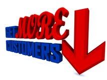 Krijg meer klanten stock illustratie