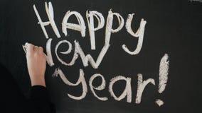 Krijt die Gelukkig Nieuwjaar trekken stock video