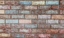 Krijt Geschilderde Bakstenen muur Royalty-vrije Stock Foto